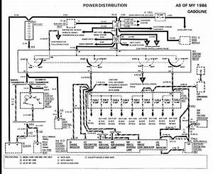 I Need A Diagram Of The Wiring To The Fusebox On A 1986 Mercedes E300