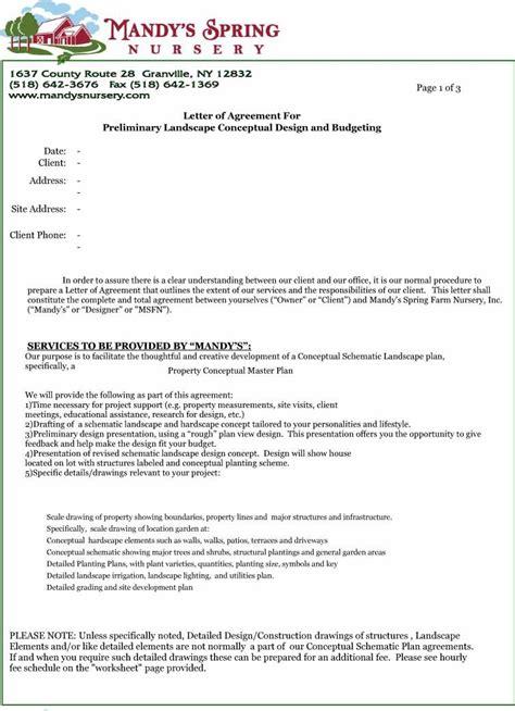 printable sample letter  agreement form   letter