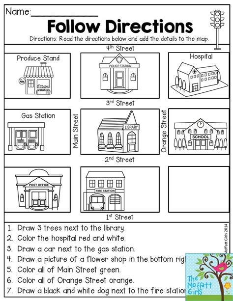 worksheets on following directions for 2nd grade follow directions read the directions and add the details