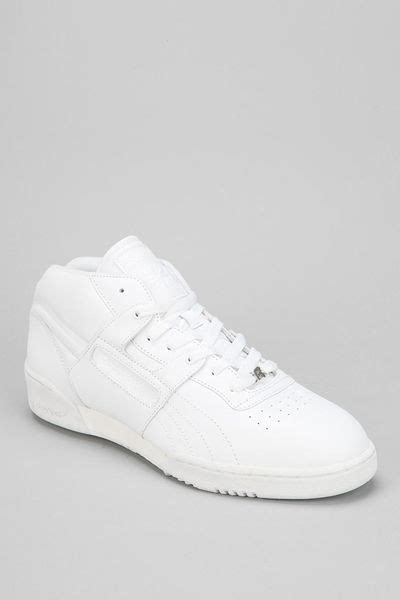 Urban Outfitters Reebok Workout Midtop Sneaker in White for Men | Lyst