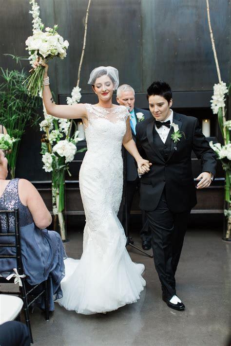 Same Sex Bride Vintage Inspired City Wedding
