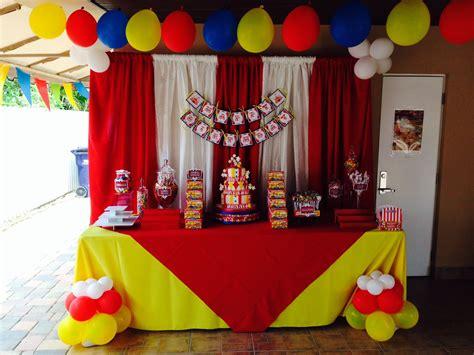 circus theme kids party decoration cake table ideas