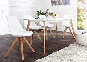 Table Et Chaise Scandinave : chaise blanche et bois scandinave pas cher pour salle manger ~ Melissatoandfro.com Idées de Décoration