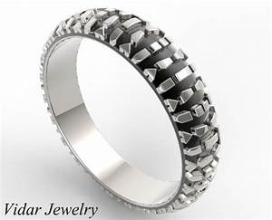 motorcycle tread wedding band vidar jewelry unique With motorcycle wedding rings