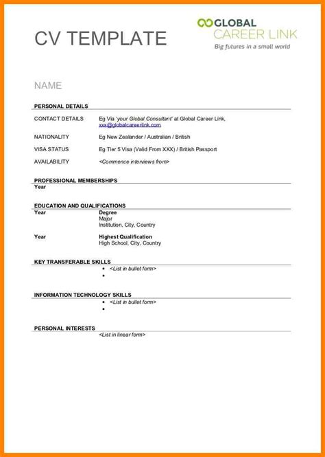 Free Resume Print And by 7 Exle Of Blank Resume Cains Cause