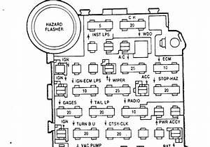 1984 Chevy K10 Fuse Box Diagram