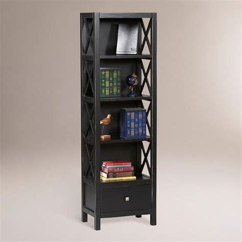 world market bookcase antiqued black easton bookshelf world market