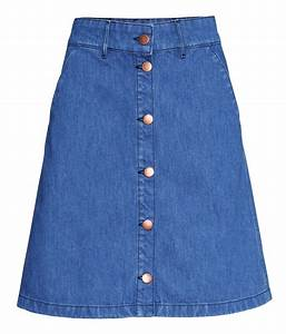 Lyst - Hu0026M Denim Skirt in Blue