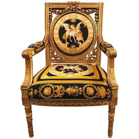 Custom Versace Louis Xvi Style Armchair Vintage, 1980s At