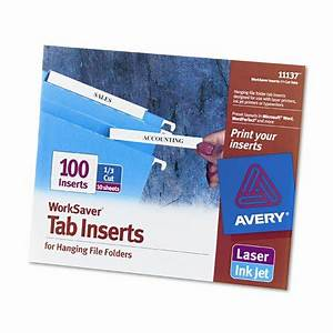 avery consumer products laser inkjet hanging file folder With avery hanging file folder labels