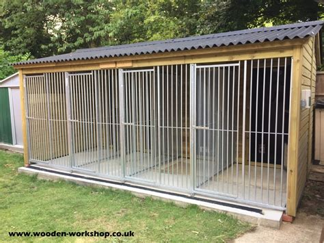 insulated dog kennel block  wooden workshop oakford