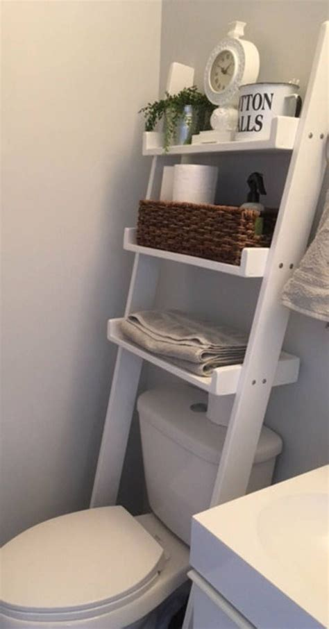 toilet leaning ladder shelf   order decor
