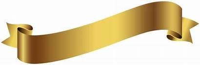 Banner Transparent Gold Clip Clipart Banners Ribbons