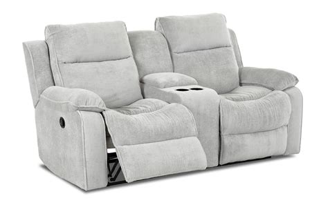 Klaussner Loveseat by Castaway Casual Power Reclining Loveseat With Console By