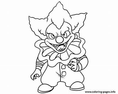 Pennywise Coloring Clown Pages Printable Mini Scary