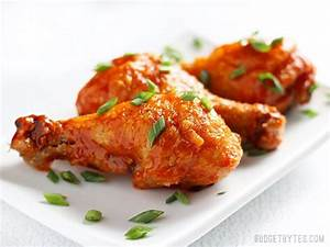 Crispy Baked Honey Sriracha Chicken Drumsticks - Budget Bytes