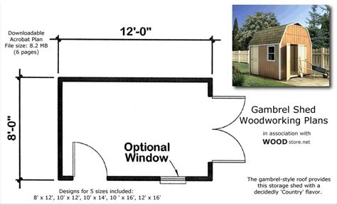 8 X 10 Gambrel Shed Plans by Dan Ini Wood Storage Sheds 8x10