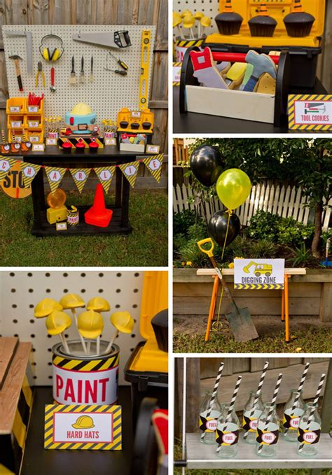 karas party ideas construction birthday party planning