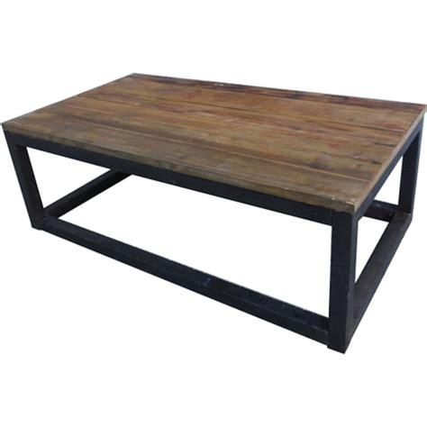 livraison repas bureau table basse bois et métal