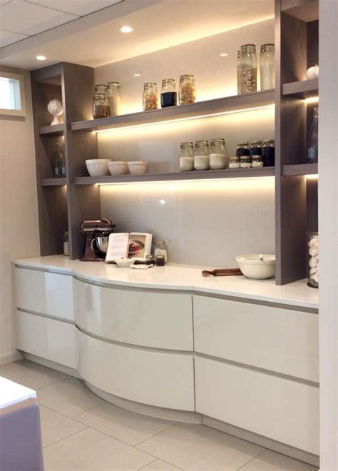 High Gloss Handleless Ex Display Baking Area, Caesarstone