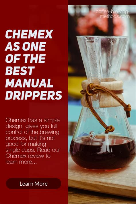 We've compiled our top coffee maker reviews across all categories to help you find the one that's suits your needs love the convenience of a single serve machine and the taste of regular filter coffee? Chemex Manual Drip Coffee Maker - An In Depth Review | Coffee brewing methods, Chemex, Coffee ...