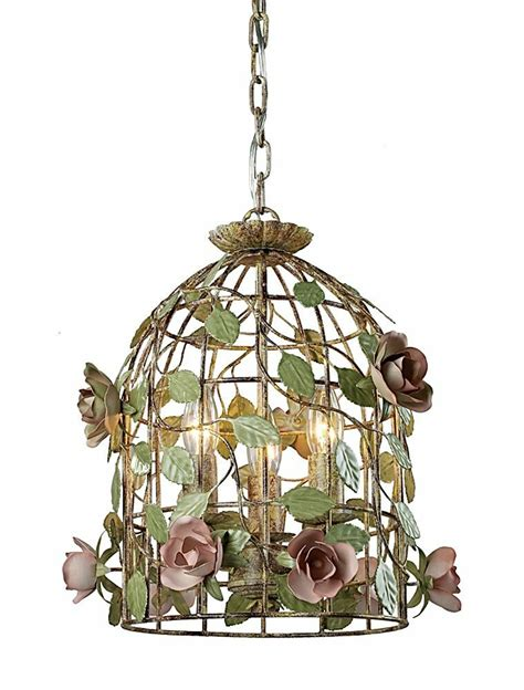 Birdcage Chandelier Shabby Chic by Country Shabby Vintage Chic Iron Cage Pendant