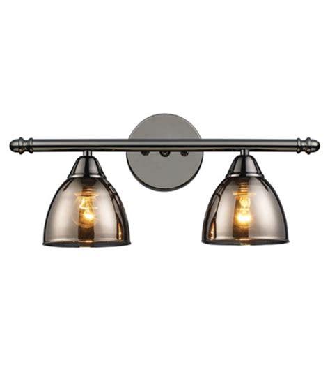 black bathroom light fixtures elk lighting reflections 2 light vanity in black chrome