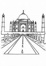 Mahal Taj Coloring Pages Marble India Wonders Adults Getdrawings Popular Getcolorings sketch template