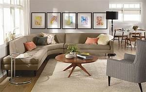 Reese Curved Sectional Room by R&B - Modern - Living Room
