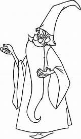 Coloring Merlin Pages Wizard Cartoon Sword Wakfu Stone Wecoloringpage sketch template