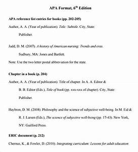sample apa format template 6 free documents in pdf word With free apa template 6th edition