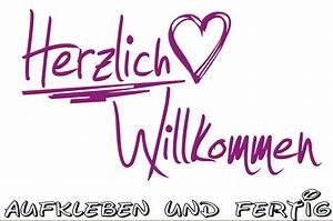 """Wandtattoo """"Herzlich Willkommen"""" Türaufkleber Eingangstüre Wohnung eBay"""