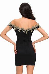 Black Off Shoulder Mini Dress