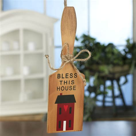 primitive bless  house cutting board ornament sign