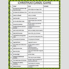 Christmas Carol Game  Free Printable From Moms & Munchkins
