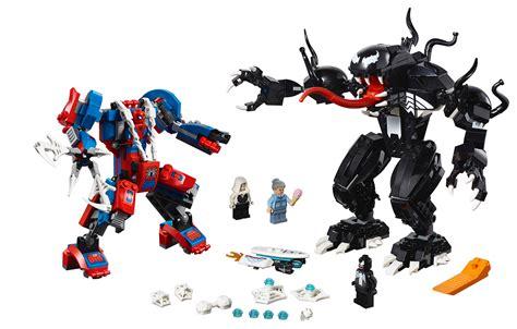 lego marvel heroes spider mech vs venom mech