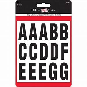 the hillman group 2 in self adhesive vinyl letter set With home depot vinyl letters