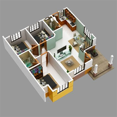modern bungalow house   floor plans  firewall
