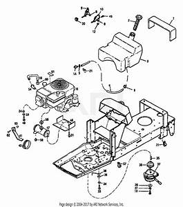 Troy Bilt 13027 14hp Hydro Suburban Tractor  S  N 130270100101  Parts Diagram For Engine Assembly