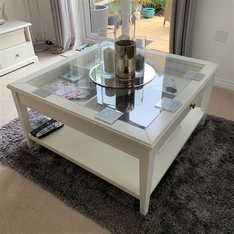 This table is built to be strong and durable. Ikea Liatorp Coffee Table - White / Glass in Madeley for £50.00 for sale   Shpock