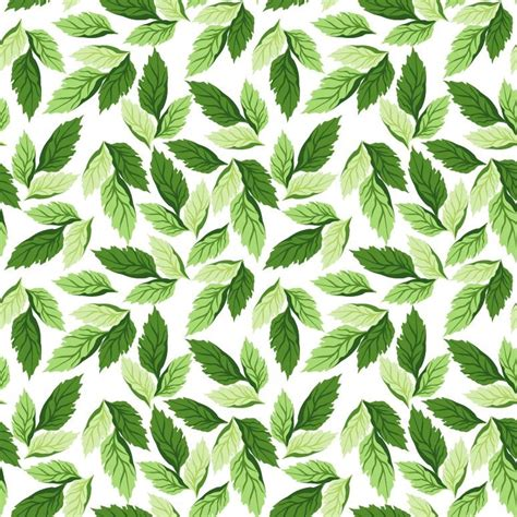 seamless leaf pattern vector background free vector