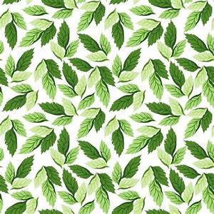 Seamless leaf pattern vector background free