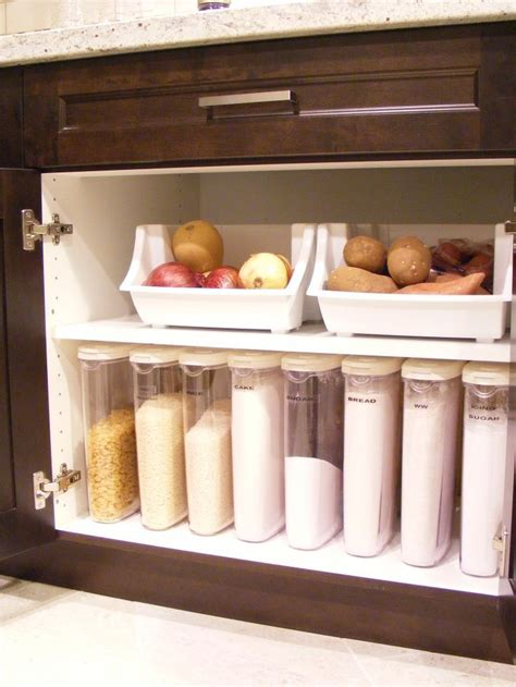 Separate Bins For Potatoes And Onions, Tall Narrow
