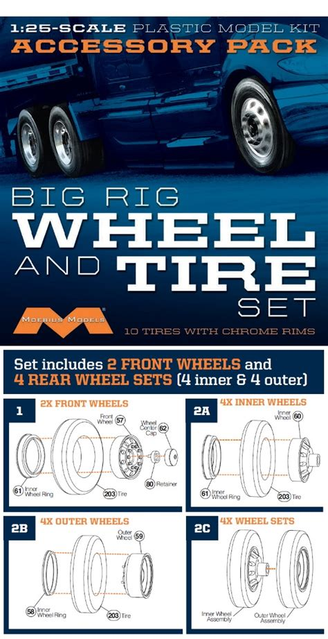 moebius tires tire wheel 1010 rig wheels chrome modelroundup