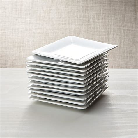 """Set Of 12 Boxed 6"""" Appetizer Plates  Crate And Barrel"""