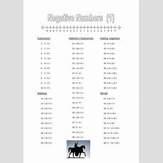 Negative Numbers Worksheets By Dh2119  Teaching Resources