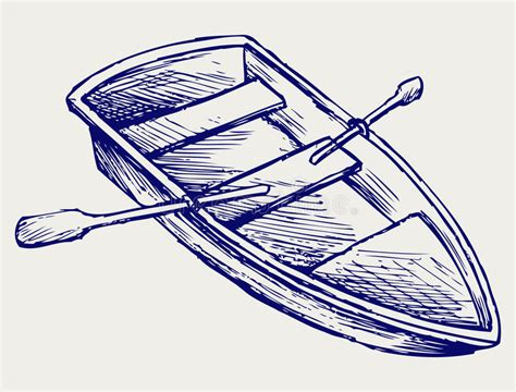 Boat Paddle Outline by Wooden Boat With Paddles Stock Vector Illustration Of
