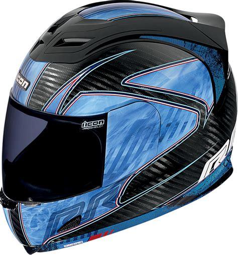 blue motocross helmet icon airframe carbon fiber rr full face motorcycle helmet