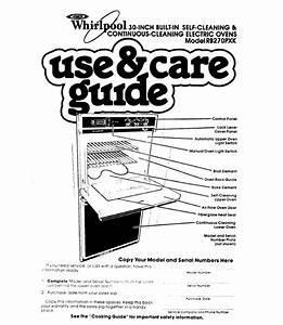 Whirlpool Oven Rb270pxk User U0026 39 S Guide