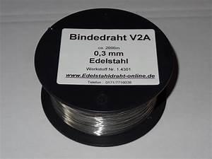 Edelstahldraht 3 Mm : edelstahldraht 0 3mm v2a flexibel bindedrahts webseite ~ Orissabook.com Haus und Dekorationen